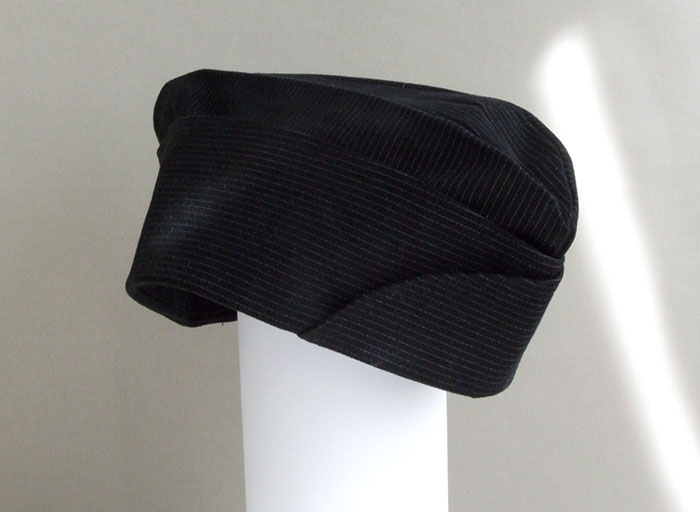pinstripe side hat
