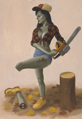 Zombie Lumberjack : Jobs for the Ghouls pin-up calendar 2013